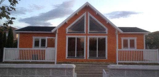 Casas de madera modelo francia i en oferta for Casas de madera canadienses