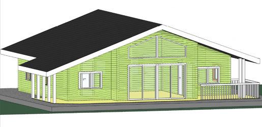 Modelo madrid de 125m2 casas de madera en tenerife y mas - Casas de madera tenerife precios ...