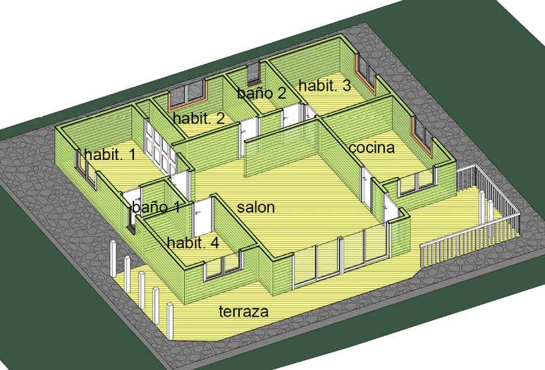 Modelo madrid de 125m2 casas de madera en tenerife y mas Casas canadienses de madera