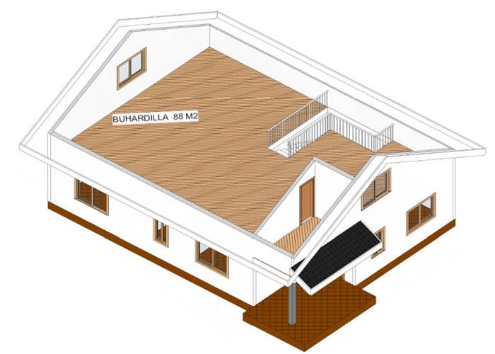 Modelo maria de 104m2 casas de madera en tenerife y mas - Casas con buhardilla ...