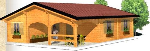 Casas de madera algeciras de 100 m2 2 modelos en oferta - Casas de madera precios y modelos ...