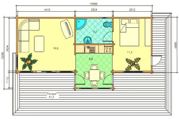 Casas de Madera de 93 m2