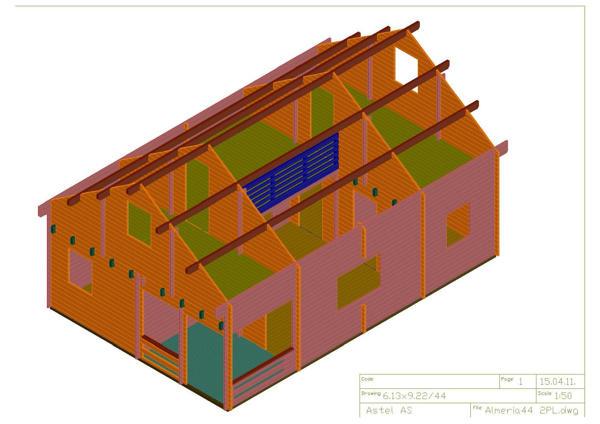Casas de madera modelo bola os ii de 95 m2 c buhardilla - Casas con buhardilla ...
