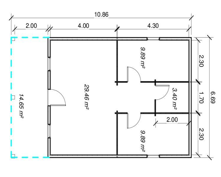 Casas de madera modelo c diz de 67 m2 - Casas de madera en cadiz ...