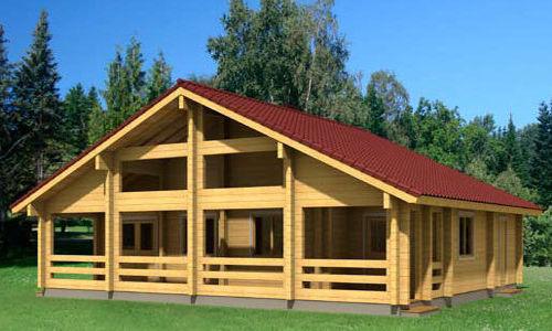 Casas de madera de 110 m2