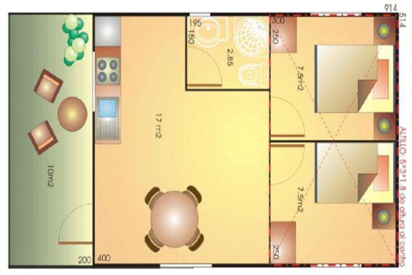 Modelo europa 57 62 m2 casas de madera en tenerife y mas - Casas de madera tenerife precios ...