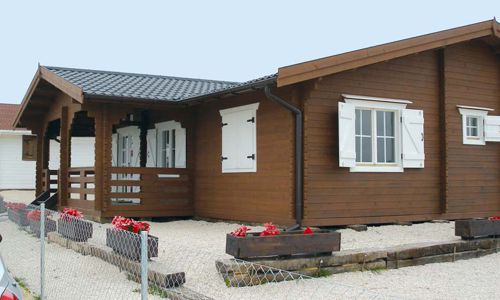 Casas de madera modelo finlandia de 121 m2 - Garajes de madera de segunda mano ...