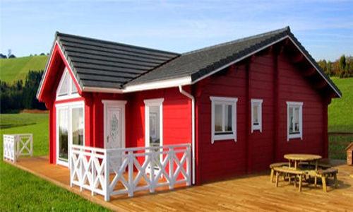 Casas de madera modelo francia ii de 74 m2 23 m2 de terraza for Casas de madera para terrazas