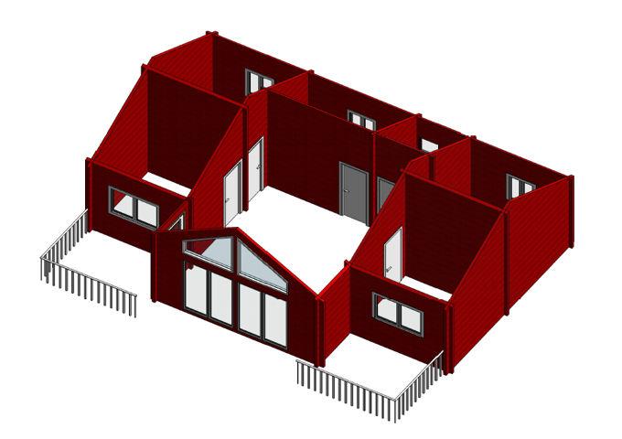 Modelo franciaii 74m2 casas de madera en tenerife y mas - Casas de madera tenerife precios ...