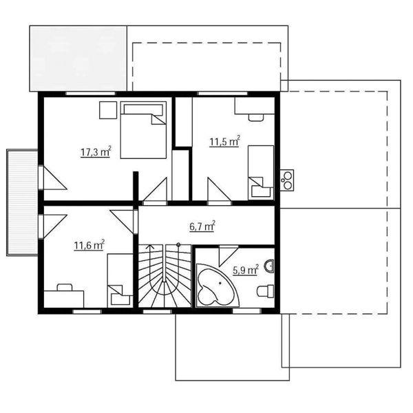 Casas de madera modelo galicia de 127 m2 23 m2 de porche - Casas de madera galicia precios ...