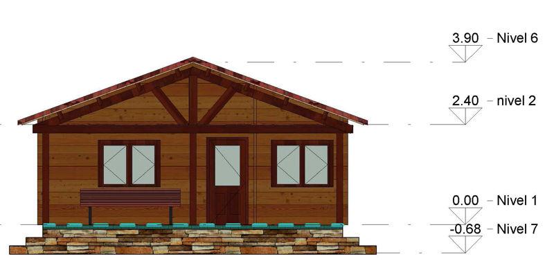 Casas De Madera Modelo Galicia De 70 M2