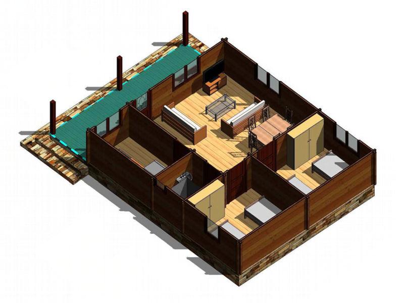 Casas de madera modelo galicia de 70 m2 - Casa madera galicia ...