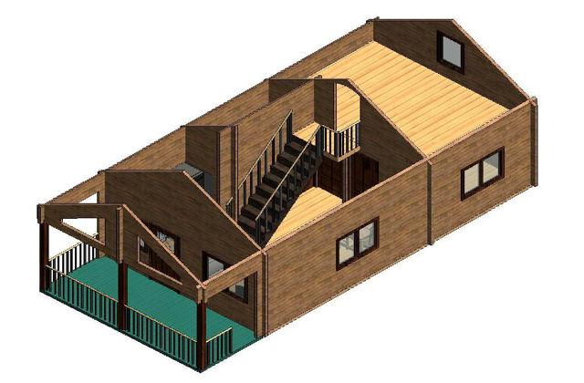 Casas de madera modelo girona de 74 m2 con buhardilla - Casas con buhardilla ...