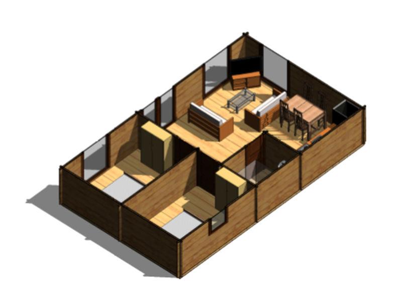 Casas de madera modelo heidi de 43 m2 c ba o 2 hab for Precio m2 alicatado bano