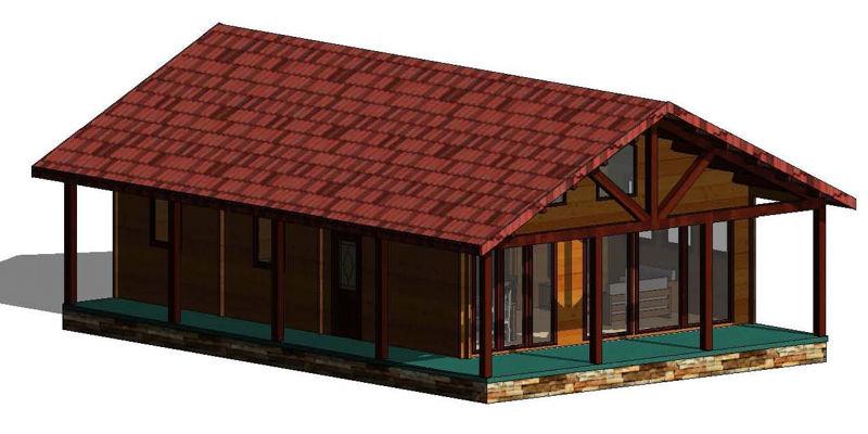 Modelo irrueta 100 m2 casas de madera en tenerife y mas - Casas de madera en tenerife precios ...