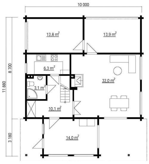 Modelo italia 146 m2 casas de madera en tenerife y mas for Plano instalacion electrica