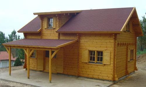 Modelo koln 108 m2 casas de madera en tenerife y mas for Tela asfaltica para tejados de madera