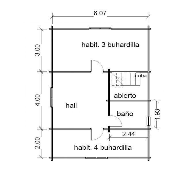 casas de madera de 108 m2 + 18 m2 de porche