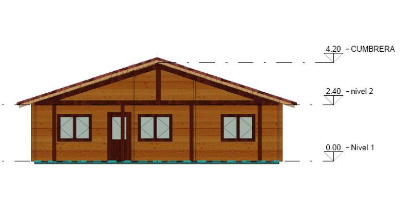 Casas de madera modelo kristy de 105 m2 - Tejas para casas de madera ...