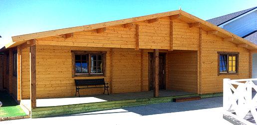 Modelo kistyii 85m2 casas de madera en tenerife y mas - Casas de madera tenerife precios ...