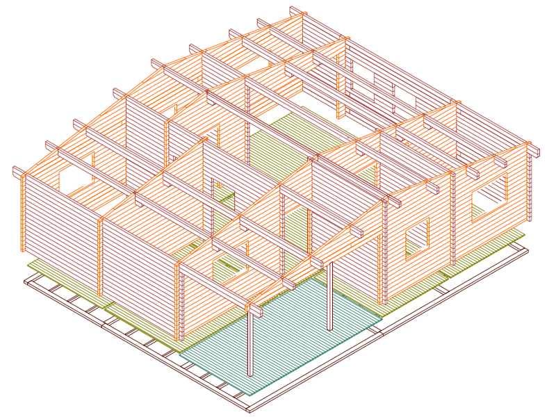 Modelo kristy iii de 90m2 casas de madera en tenerife y mas for Tela asfaltica precio m2