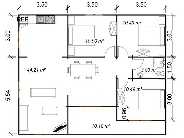 casas de madera de 80 m2