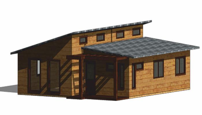 Casas de madera modelo mexico de 80 m2 8 m2 de terraza for Terrazas de madera para casas