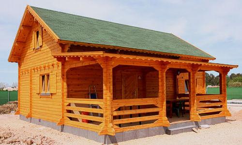 Modelo perello 128 m2 casas de madera en tenerife y mas for Tejado madera maciza