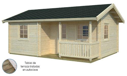 Casas De Madera Modelo Sandra De 33 M2 Con 2 Dormitorios