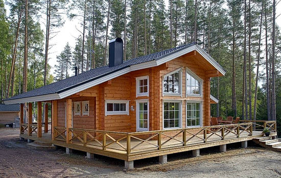 Viviendas de madera casas prefabricadas cabanas de madera - Terrazas de madera precios ...