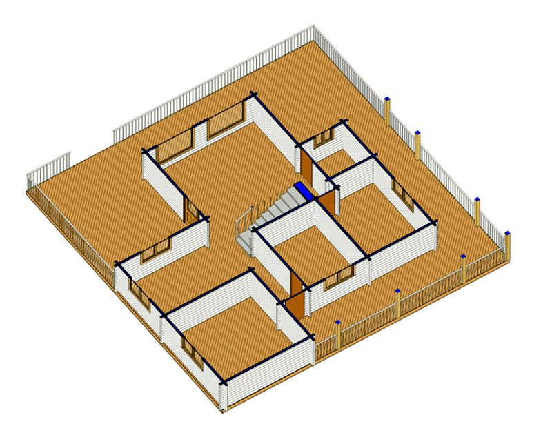 Modelo sofia 126 m2 casas de madera en tenerife y mas - Casas de madera en tenerife precios ...