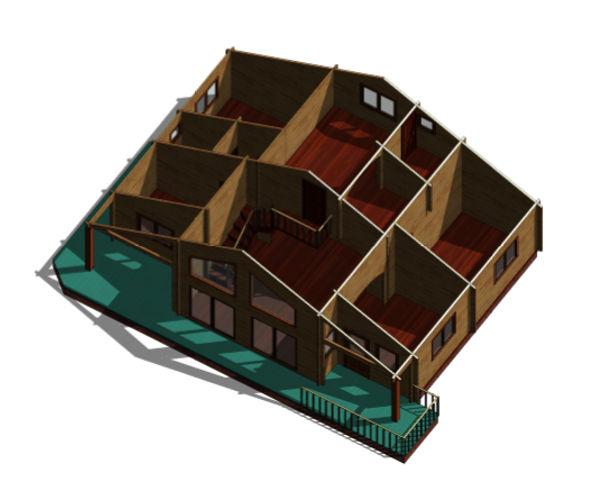 Casas de madera modelo tarragona ii de 117 m2 31 m2 terraza for Casas de madera para terrazas