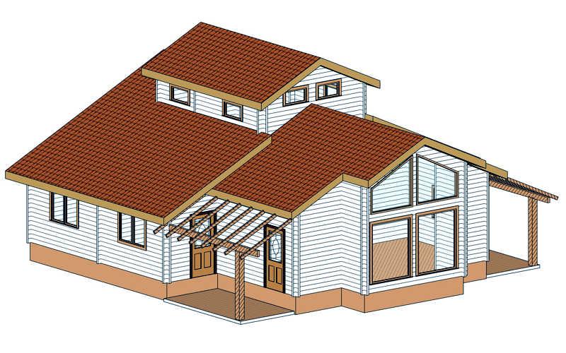 Modelo tropical 115 m2 casas de madera en tenerife y mas - Casas de madera tenerife precios ...