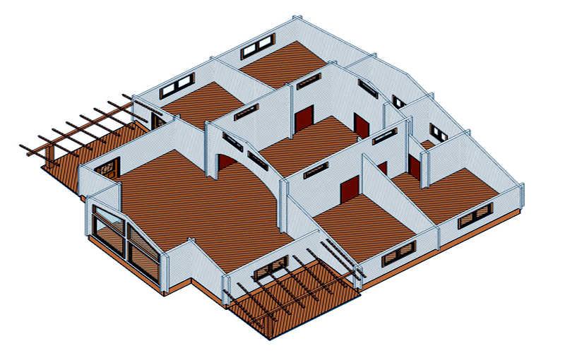 Modelo tropical 115 m2 casas de madera en tenerife y mas - Casas de madera en tenerife precios ...