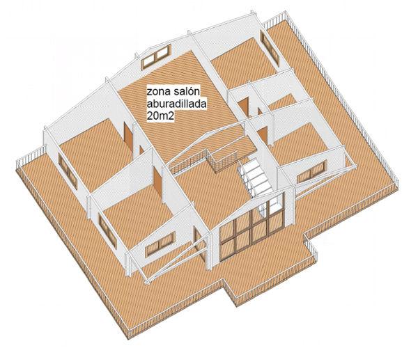 Casas de madera modelo valencia de 95 m2 46 m2 terraza - Casas de madera valencia ...