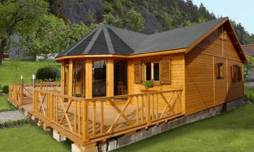 Casas de madera de 95 m2 + 48 m2 de terraza