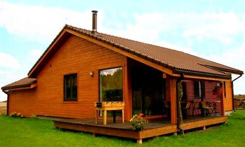 Casas de madera modelo zaragoza de 106 m2 60 m2 terraza - Casas prefabricadas tenerife ...