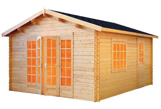 Casas de madera modelo ales 1 de 3 80 x 5 70 for Casetas de jardin pequenas