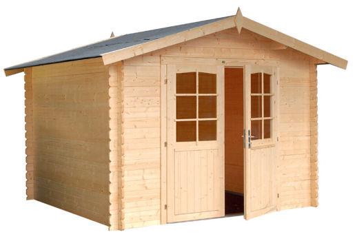 Casas de madera modelo bergerac de 2 95 x 2 95 for Casetas de chapa para jardin segunda mano