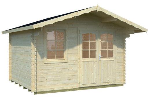 Casas de madera modelo christina de 3 80 x 3 20 for Casetas de jardin economicas