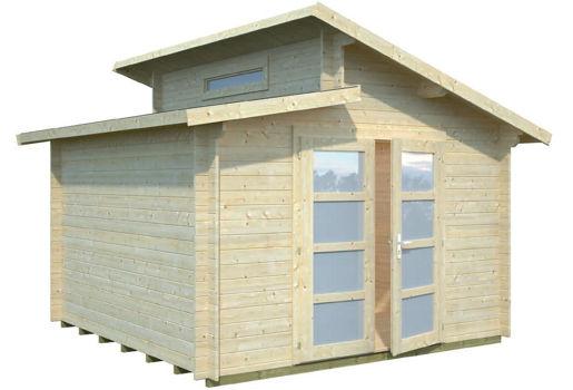 Casas de madera modelo dora de 3 20 x 3 20 for Casetas de jardin economicas