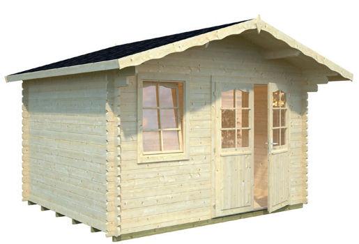 Casas de madera modelo emma 1 de 3 80 x 3 20 for Casetas de jardin economicas