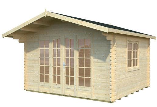 Casas de madera modelo florence de 3 90 x 3 60 for Casetas de jardin economicas