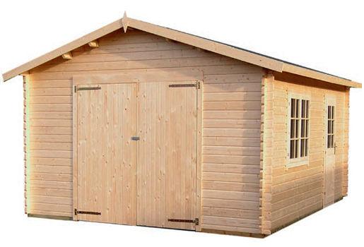Casas de madera modelo garaje 2 de medidas 4 70 x 5 70 for Modelos de garajes