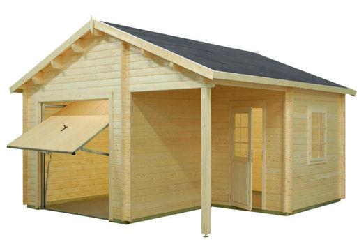 Casas de madera modelo garaje 4 de medidas 5 30 x 5 70 - Casas moviles madera ...