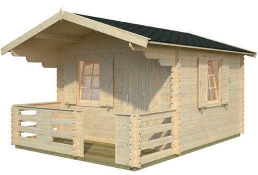 Casas de madera modelo harriet de 3 50 x 3 50 4 80 for Casetas de jardin economicas