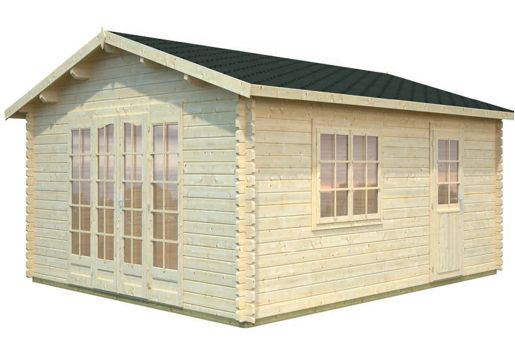 Casas de madera modelo irene 1 de 3 80 x 5 70 for Casetas de jardin economicas