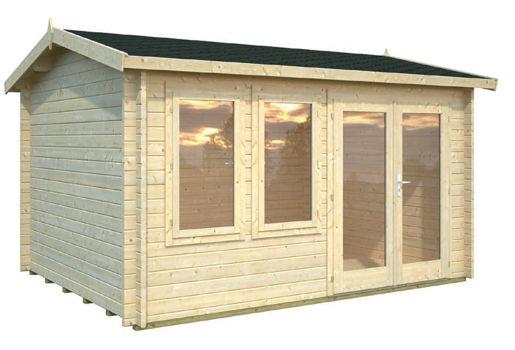 Casas de madera modelo iris de 4 10 x 3 20 for Casetas de jardin economicas