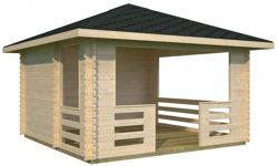Nuestros casetas de jard n garajes y p rgolas en oferta for Como hacer un kiosco de madera