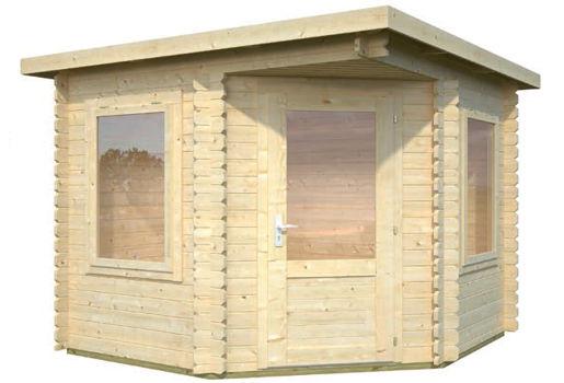 Casas de madera modelo melody de medidas 2 50 x 2 50 for Casetas de jardin economicas